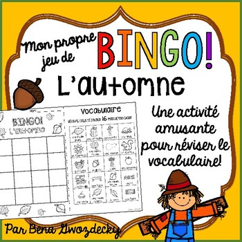 {BINGO: L'automne!} A Bingo game to practice Fall vocabulary in French