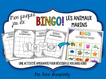 {BINGO: Les Animaux Marins} A vocabulary-review game!
