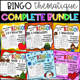 {BINGO Thématique: COMPLETE BUNDLE} Themed Bingo games to learn French vocab