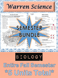 BIOLOGY: Semester Unit Bundle (Fall)  -  ***5 Total Units***Save $25