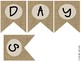 """BIRTHDAYS"" Farmhouse Burlap Focus Wall Pennant / Banner"