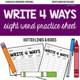 **BLANK PRACTICE SHEETS FOR SIGHT WORDS/SPELLING WORDS** W