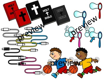 FINAL STABLE SYLLABLES -BLE ENDING WORDS CLIP ART