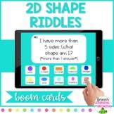 *BOOM CARDS* 2D Shape Riddles