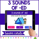 *BOOM CARDS* 3 SOUNDS OF -ED