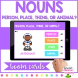 *BOOM CARDS* Nouns: Person, Place, Thing, or Animal- Dista