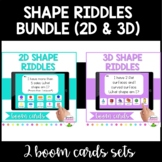 *BOOM CARDS* Shape Riddles Bundle: 2D and 3D- Distance Learning