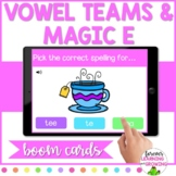 *BOOM CARDS* Spelling with Vowel Teams & Magic E- Distance