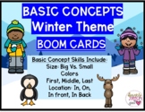 Winter Themed Basic Concepts BOOM CARDS for Size, Color &