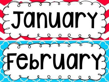{BRIGHT COLORS} Calendar Set