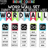 {BRIGHT COLORS} Journeys 2nd Grade High Frequency Word Wall Set
