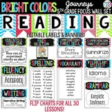 {BRIGHT COLORS} Journeys 5th Grade Focus Wall Set  + Newsletters