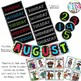 """{BRIGHT COLORS} Large Calendar Set for 24"""" x 48"""" White Board"""