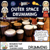 Outer Space Bucket Drumming with Solar Eclipse Rhythms