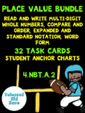 Place Value Bundle- Task Cards and Instructional Student A