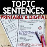 Topic Sentences Unit  | Digital and Printable