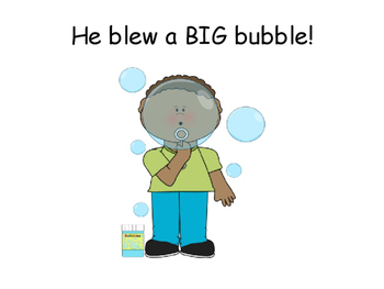 """""""BUBBLES!"""" Interactive Book- ACTIONS, PRONOUNS, and WH QUESTIONS"""