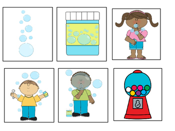 """BUBBLES!"" Interactive Book- ACTIONS, PRONOUNS, and WH QUESTIONS"