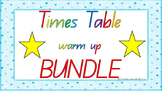 **** BUNDLE **** 1-12 Times Table Warm Up ACARA C2C Common