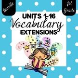 {BUNDLE} 1st Grade SuperKids {Units 1-16} Memory Word Extensions
