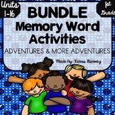 {BUNDLE} 1st Grade Superkids Memory Word Activities {Unit 1-16}