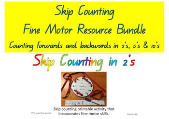 **BUNDLE***  2's 5's 10's  Skip Counting Fine Motor Pattern ACARA C2C CCSS