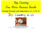 **BUNDLE***  2's 5's 10's  Skip Counting Fine Motor Patter