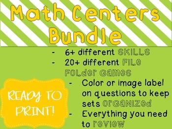 {BUNDLE} 20+ Math File Folder Games - Ready to Print