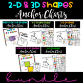 > BUNDLE> 2D and 3D Shape Anchor Charts ~ Print and GO