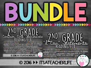 |BUNDLE| 2nd Grade ELA/Reading Focus Wall