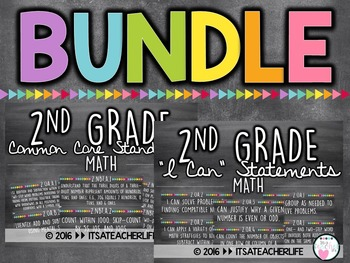 |BUNDLE| 2nd Grade Math Focus Wall