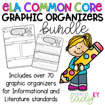 **BUNDLE** 3rd Grade CCSS Reading Literature & Informational Graphic Organizers