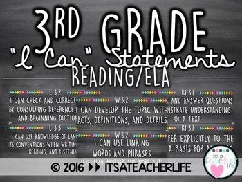 |BUNDLE| 3rd Grade ELA/Reading Focus Wall