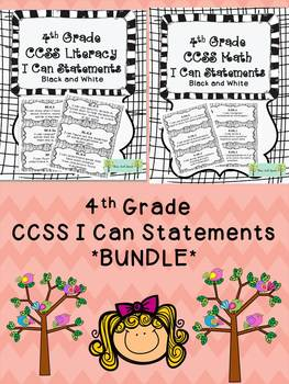 *BUNDLE* 4th Grade CCSS I Can Statements