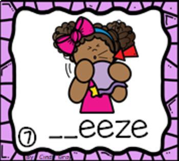 $$BUNDLE$$ 72 Consonant Blend Picture Writing Cards