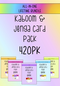 *BUNDLE* ALL-IN-ONE Kaboom/Jenga Game Cards 420 PK