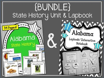 {BUNDLE} Alabama State Lapbook and State History Unit