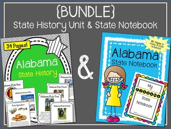 {BUNDLE} Alabama State Notebook and State History Unit