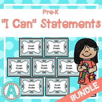 """*BUNDLE* All 7 Sets of """"I Can"""" Statements for Pre-K and Preschool"""