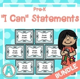 "*BUNDLE* All 7 Sets of ""I Can"" Statements for Pre-K and Preschool"