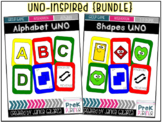 {{BUNDLE}} Alphabet & Shapes UNO-inspired cards