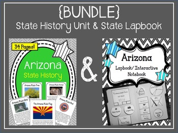 {BUNDLE} Arizona Interactive Notebook & History Unit. Lapbook