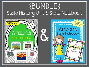 {BUNDLE} Arizona State Notebook & Arizona State History Unit