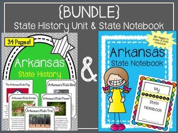{BUNDLE} Arkansas State History Unit and Arkansas State Notebook