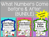 {BUNDLE} Before and After a Number! Math Centers.