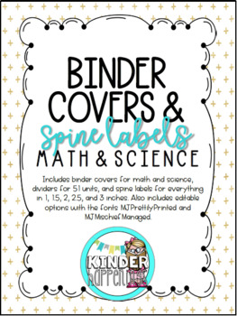 *BUNDLE* Black and Gold Binder Covers and Spine Labels for Grades 3-5