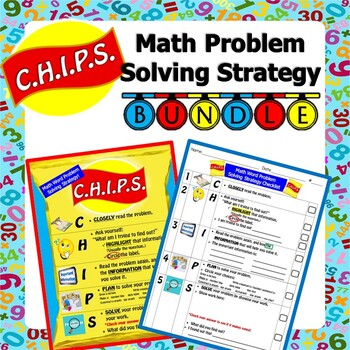 *BUNDLE* - C.H.I.P.S. Math Word Problem Solving Strategy Poster and Checklist