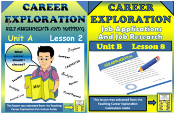 ***BUNDLE*** Career Exploration Job Searching and Job Applications