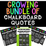 {BUNDLE} 32 Inspirational Chalkboard Quotes