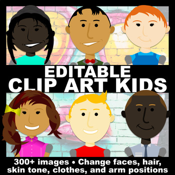 Editable Clip Art Kids | Clip Art for TpT Sellers, Classroom Decor, and More